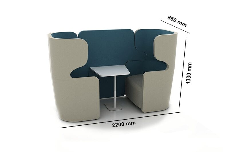 Tokyo – High Back Two-Seater Soundproof Pod