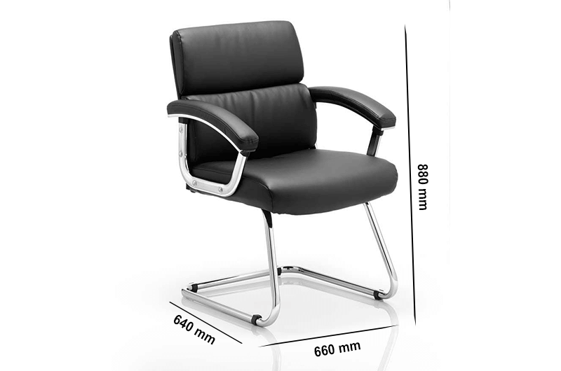 Size Slade – Leather Executive Cantilever Visitor Chair