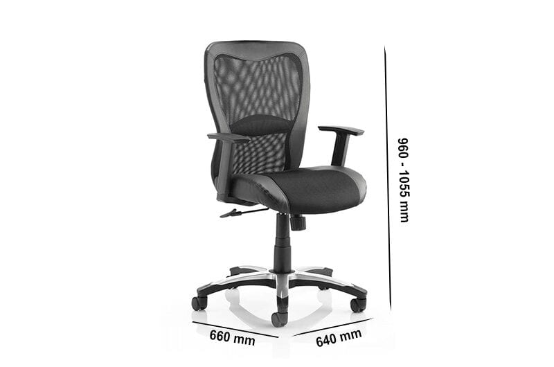 Lucius – Executive Chair with Mesh and Black Leather
