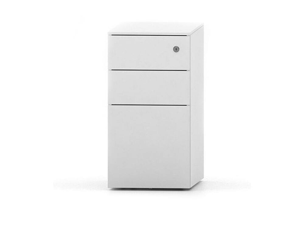 Jane – White Steel Mobile Desk Drawer Unit