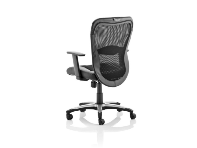 Victor Executive Chair Black Leather Black Mesh With Arms 1