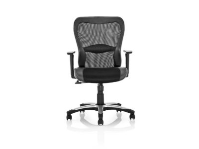 Victor Executive Chair Black Leather Black Mesh With Arms 2