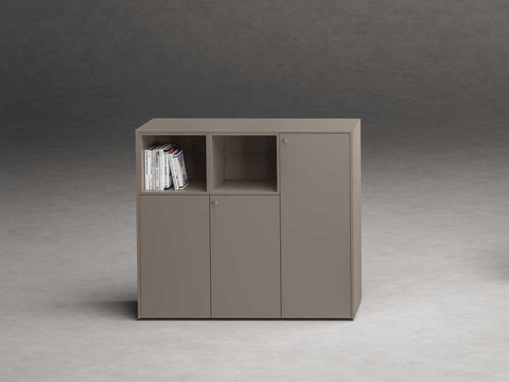 Wallis – Modular Wooden Sideboard With Open Shelves