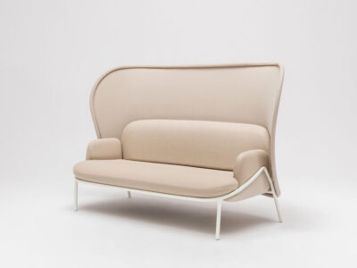 Windsor – Fabric Armchair With Shield And Metal Frame1