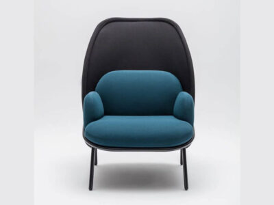 Windsor – Fabric Metal Armchair With Shield And Metal Frame1