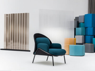 Windsor – Fabric Metal Armchair With Shield And Metal Frame3