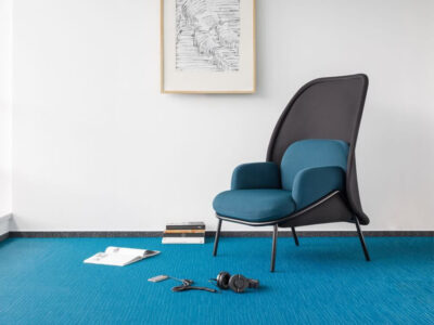 Windsor – Fabric Metal Armchair With Shield And Metal Frame4