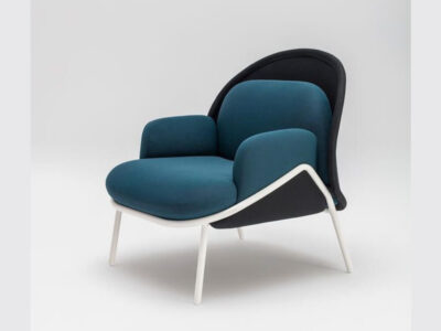 Windsor – Fabric Metal Armchair With Shield And Metal Frame5