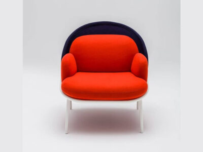 Windsor – Fabric Metal Armchair With Shield And Metal Frame6