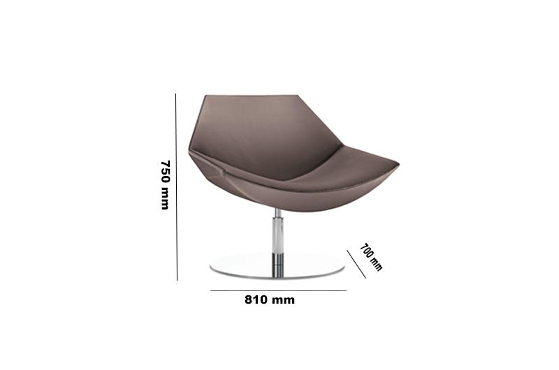 Kayak Low Back Round Base Dimensions