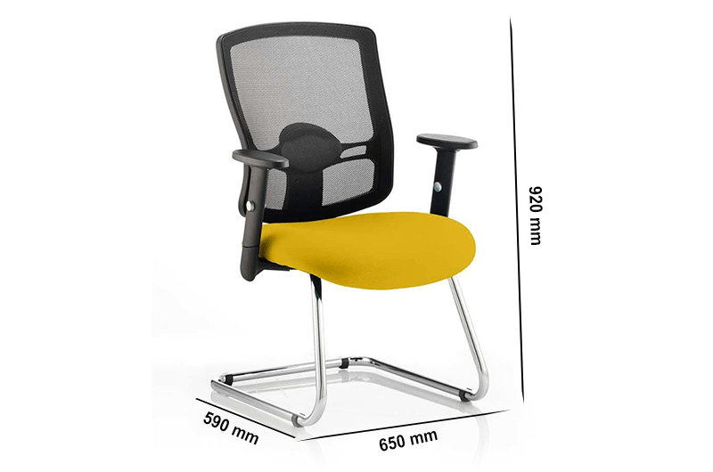 Size Oregon – Chrome Cantilever Visitor Chair With Mesh Back