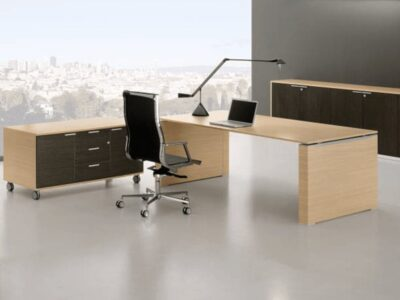 Kingsley 3 – Executive Desk with Paneled Legs