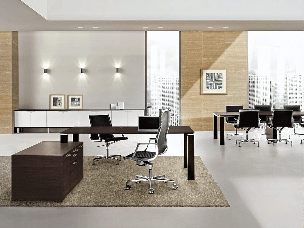 Bosco - Walnut, Oak or Wenge Top Executive Desk