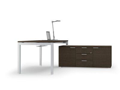 Cello 2 – Solid Melamine Top Office Desk with Goalpost U Leg