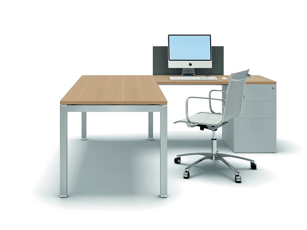 Nicolo - Executive Corner Desk with Goalpost U Leg and Melamine Top