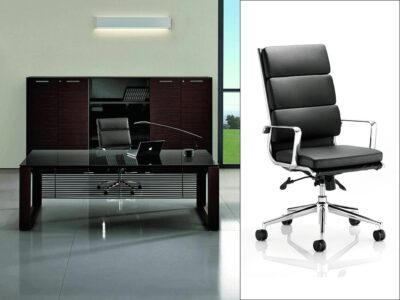 Ryder - Tempered Glass Executive Desk with Assembled Panel for Leg
