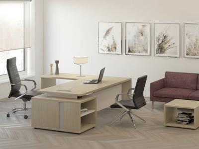 Alfonso – Wood Finish Panelled Legs Executive Desk