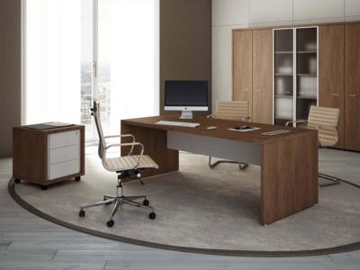 Alfonso – Wood Finish Panelled Legs Executive Desk Main