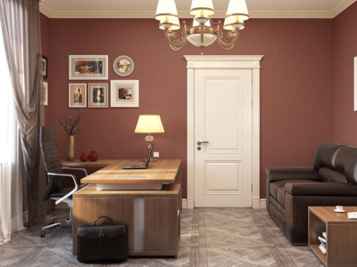 Alfonso – Wood Finish Panelled Legs Executive Desk2