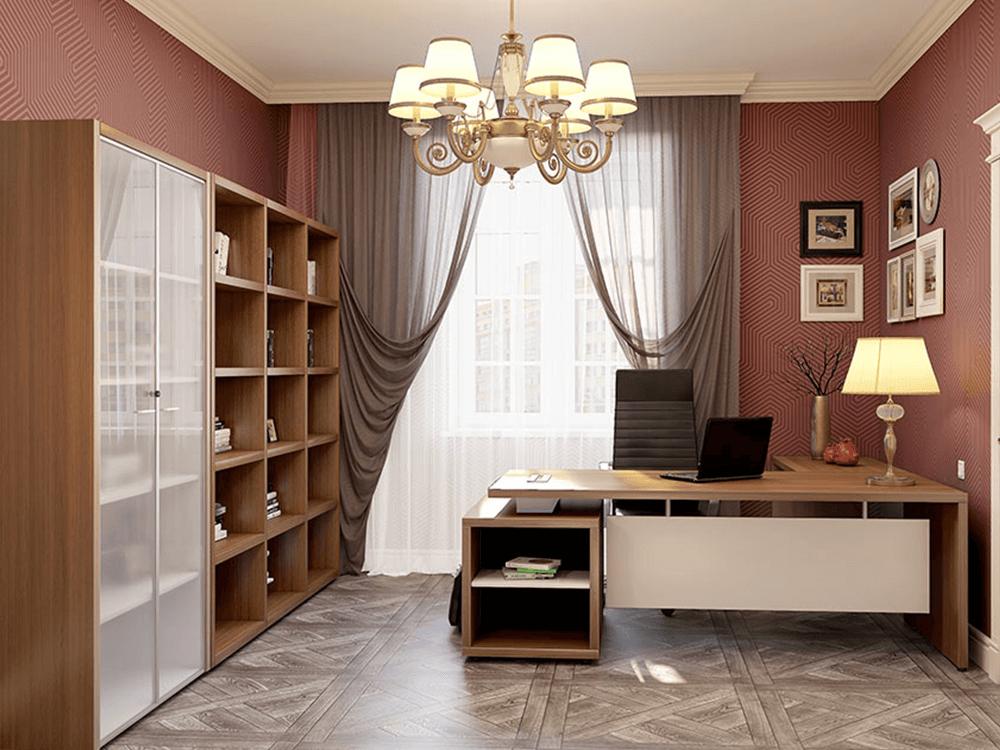 Alfonso – Wood Finish Panelled Legs Executive Desk3