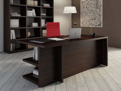Alfonso – Wood Finish Panelled Legs Executive Desk5