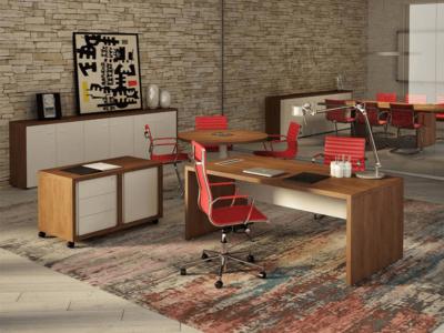 Alfonso – Wood Finish Panelled Legs Executive Desk6