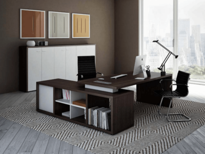 Alfonso – Wood Finish Panelled Legs Executive Desk7