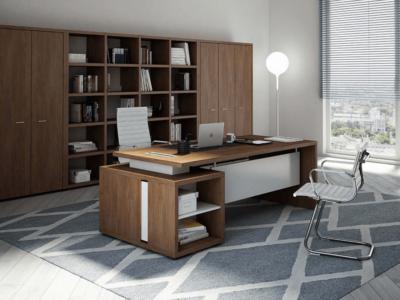 Alfonso – Wood Finish Panelled Legs Executive Desk9