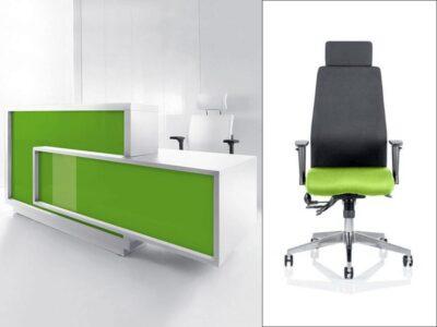 Bevan – Contemporary Reception Desk with Wheelchair Access