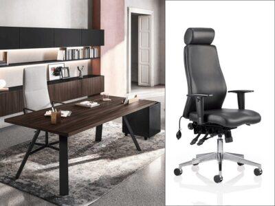 Brooklyn – Metal K-Leg Executive Desk