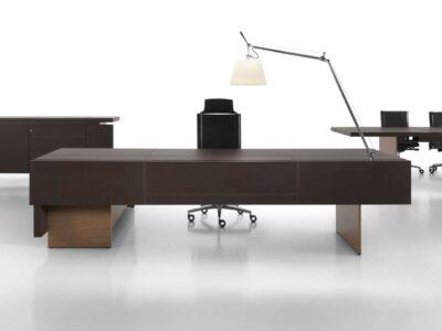 Darcey Prestigious Executive Desk with Leather Top - mainimg