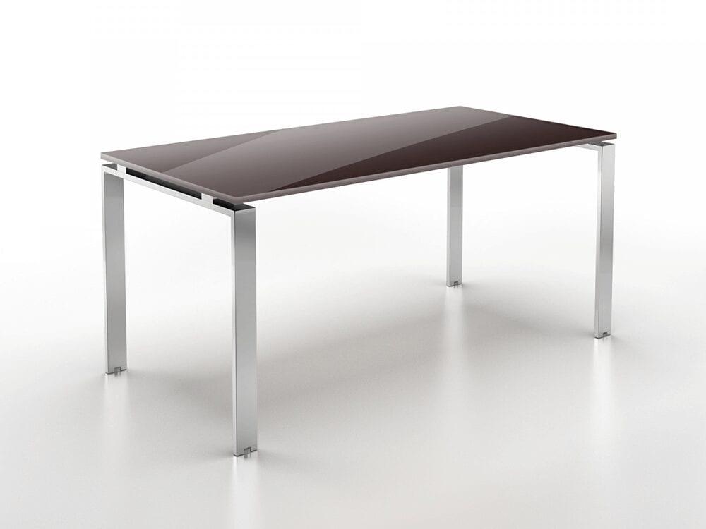 Dante 1 - Sturdy U-Leg Office Executive Desk with Glass Top