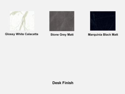 Forza 4 Modern Stone Finish Top Executive Desk With A Leg Desk Finish