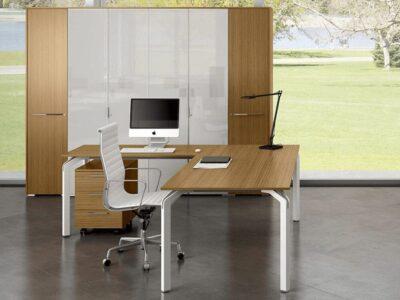 Aislinn – Aluminium Leg veneer Executive Desk