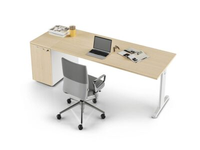 Juna – T Leg Office Desk with Storage and cable management
