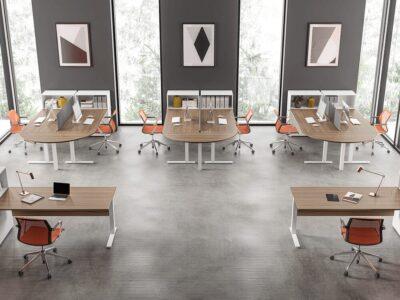 Ampio – Wide Square C Leg Office Operational Desk