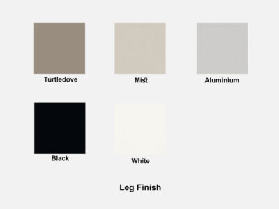 Leg Finish Ryder – Executive Desk With Leather Details