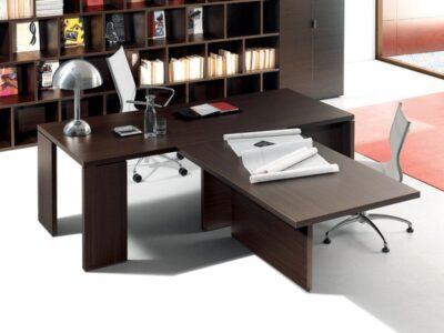 Lithos - Left Presidential Desk with Center Front Return