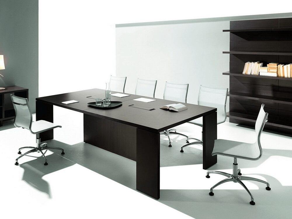 Rocco - Rectangular Executive Desk in Dark Wood