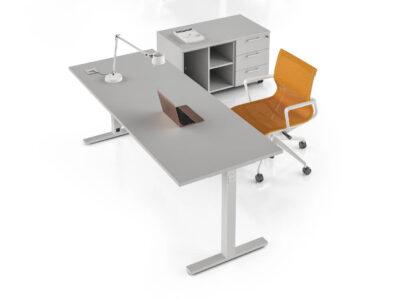 Nube–cloud Grey Tsquare Leg Office Desk