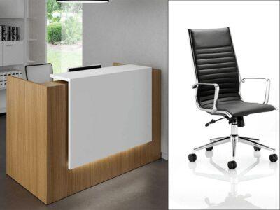 Roman 1 – Straight Reception Desk in White