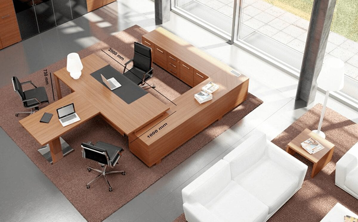 Ryder - Executive Desk for Hooking to the Storage Unit