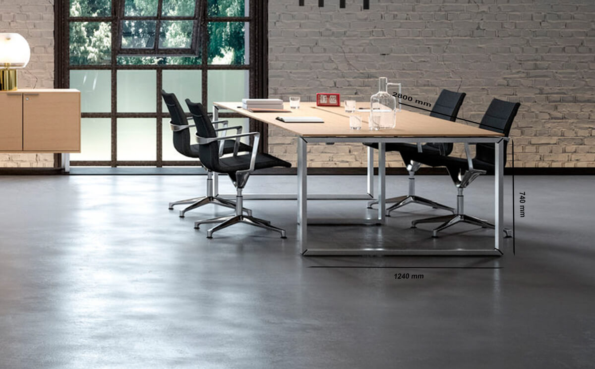 Size Continuo 4 – Modern Workstation For 4 People