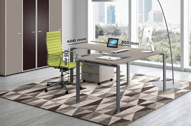 Dante - U Leg Sturdy Office Executive Desk