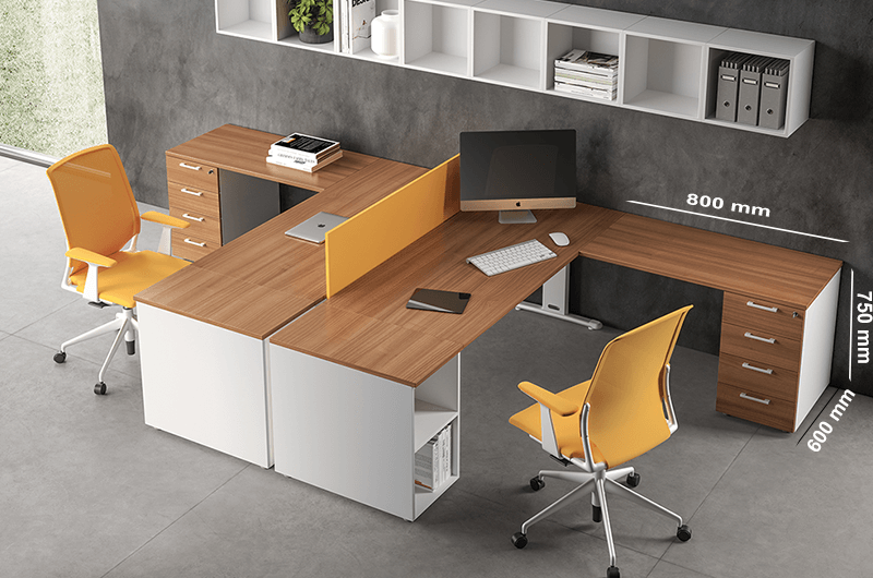 Size (extension) T Square Operational Desk1