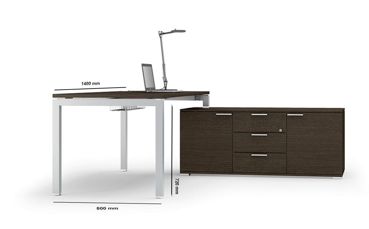 Cello 1 - Solid Melamine Top Executive Office Desk with Goalpost U Leg