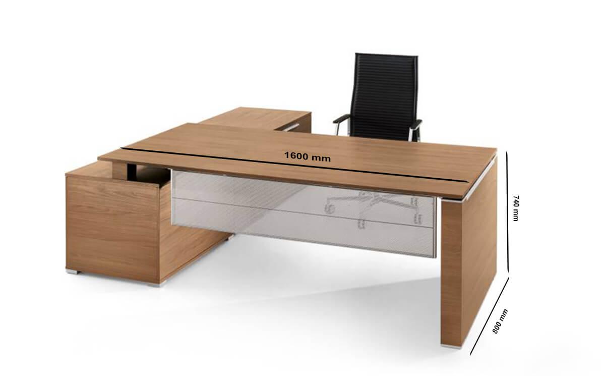 Size Kingsley – Bridge Executive Desk With Modesty Panel And Storage Unit
