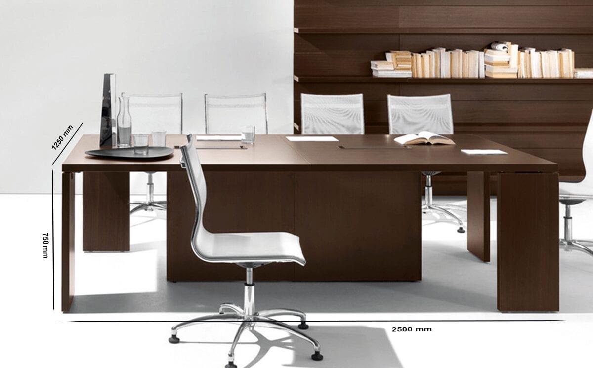 Rocco - Rectangular Meeting Table in Dark Wood or Rose Wood