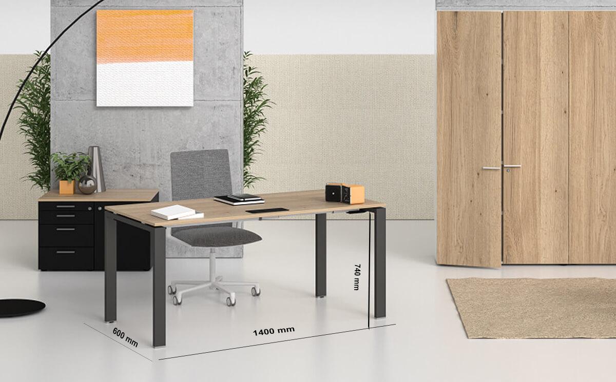 Size Lorenzo – Veneer Top Executive Desk With Goalpost U Legs