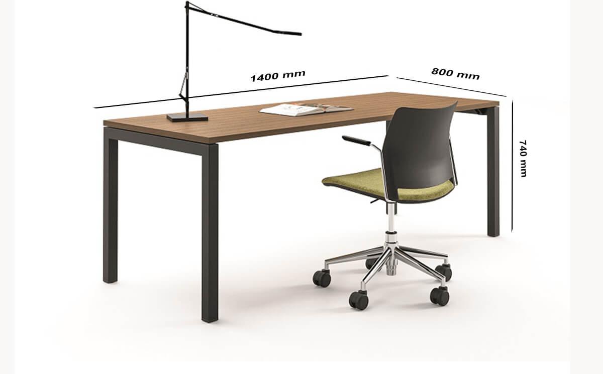 Size Nicolo – Executive Desk With Goalpost U Leg